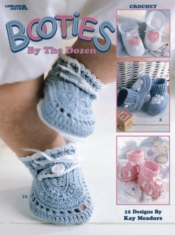 Booties by the Dozen Pattern-booties, crochet, crochet pattern, pattern for booties, how to crochet, bootie pattern, booties patt