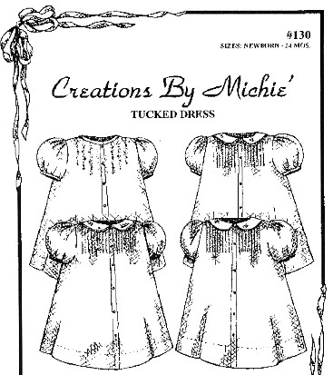 Tucked Baby Dress-Tucked Dress by Creations by Michie'