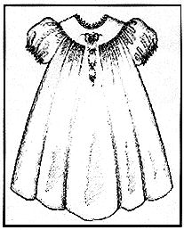 """Lillian"" Toddler's Dress-Collars, etc. pattern company, smocking, elegant dress"