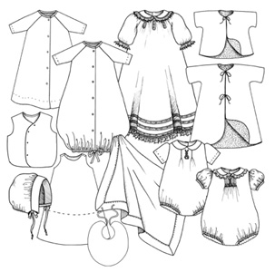 Layette - a wardrobe for baby-Layette - a wardrobe for baby