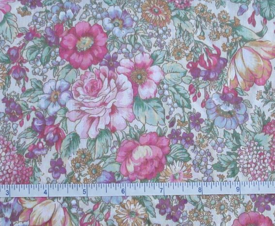 Fabric - CCF - Pink Roses, bty