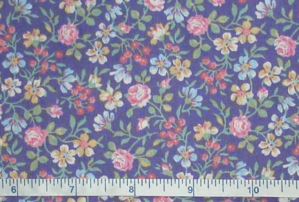 Fabric - CCF - purple Lily Garden, bty-Fabric - CCF - purple Lily Garden, bty