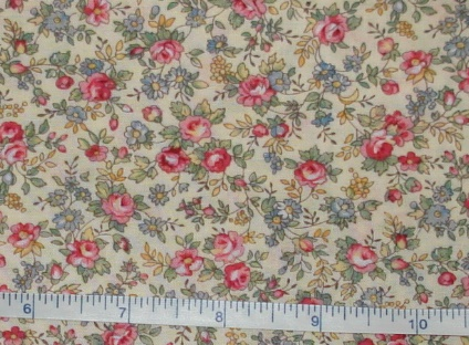 Fabric - CCF -cream Spring Country Floral, bty-Fabric - CCF -cream Spring Country Floral, bty