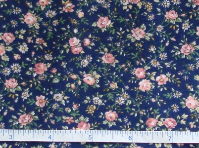 Fabric - CCF - navy Spring Country Floral, bty-Fabric - CCF - navy Spring Country Floral, bty