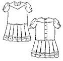 Girl's Drop-Waist Dress & Apron Pattern