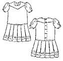 Girl's Drop-Waist Dress & Apron Pattern