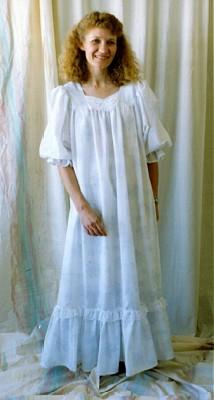 Elizabeth Lee Sweetheart Nursing Nightgown-Elizabeth Lee Sweetheart Nursing Nightgown