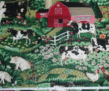 Fabric - Farm Yard, bty