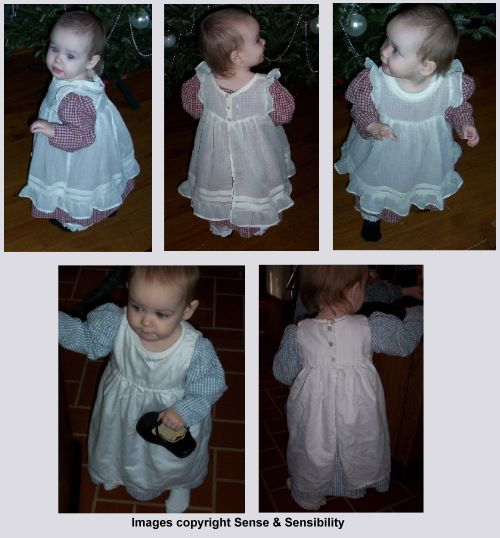 Girl's Pinafore & Pantaloons Pattern-girls pinafore, pantaloons, bloomers, pattern, patterns, sense and sensibility, sewing