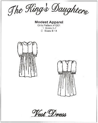 Girls Vest Dress Pattern