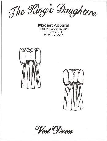Ladies Vest Dress Pattern-Ladies Vest Dress Pattern