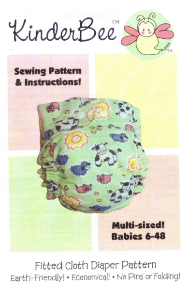 KinderBee� Baby Cloth Diaper Pattern-cloth diaper pattern, cloth diapers, fitted diaper, fitted diapers, pattern, patterns, baby, sew