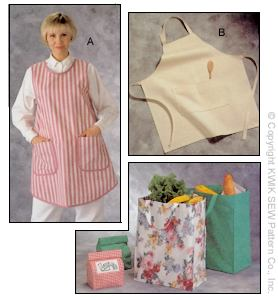 Kwik Sew� Aprons, Shopping Bags & Lunch Bag-Kwik Sew� Aprons, Shopping Bags & Lunch Bag