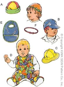 Kwik Sew® Baby & Toddler Hats & Bibs