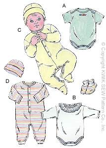 Kwik Sew� Baby Sleeper Pattern