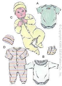 Kwik Sew� Baby Sleeper Pattern