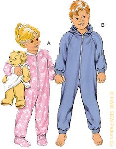 Kwik Sew� Children's Sleeper & Jumpsuit Pattern-Children's Sleeper, Children's Jumpsuit, Pajama's