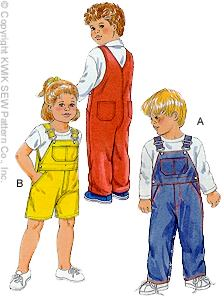 Kwik Sew� Little Boy's Overalls sizes 1-4-Little Boy's Overalls, Toddler / Children's Overalls