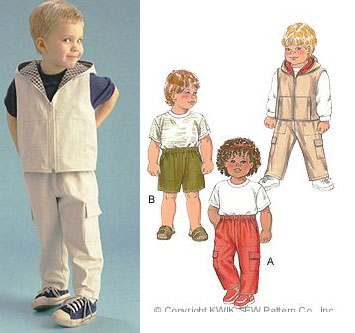 Kwik Sew Toddler's Pants & Vest pattern-Kwik Sew Toddler's Pants & Vest pattern