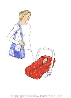 Kwik Sew® Baby Car Seat Cover & Bag