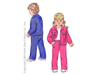 Kwik Sew Toddler's Jacket & Pants-Toddler's Jacket & Pants