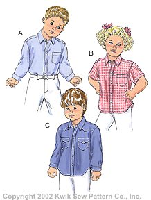 Kwik Sew� Boy's shirt, sizes 1-4-Boy's shirt sizes 1-4