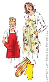Kwik Sew� Adults & Childrens Apron & Oven Mitt-Kwik Sew� Adults & Childrens Apron & Oven Mitt