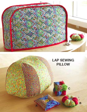 Kwik Sew� Sewing machine cover, pincushion & pillow
