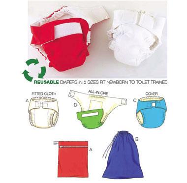 Kwik Sew Diapers, Diaper Cover, Insert & Bags