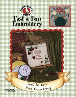 Fast & Fun Embroidery - embroidery with fabric!