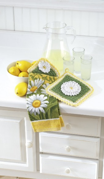 Towel Toppers and Potholders - crochet