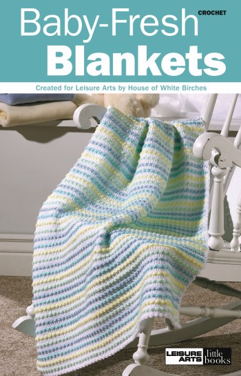 Free Crochet Pattern - Jamie Rainbow Striped Baby Blanket/Afghan