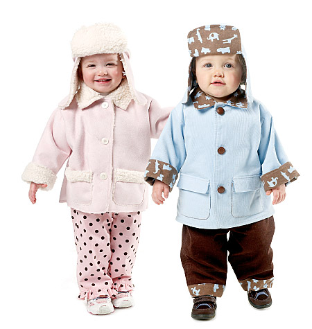 Baby Lined and Unlined Jackets, Pants and Hats