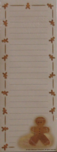 Magnetic Note Pad - Gingerbread Man