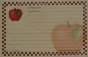 Recipe Cards - Checkered Apple