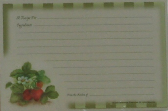 Recipe Cards - Strawberry Plant