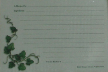 Recipe Cards - Ivy Vine