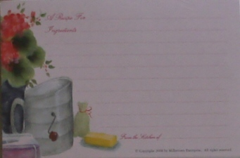 Recipe Cards - Flour Sifter