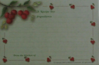 Recipe Cards - Cherries with Border