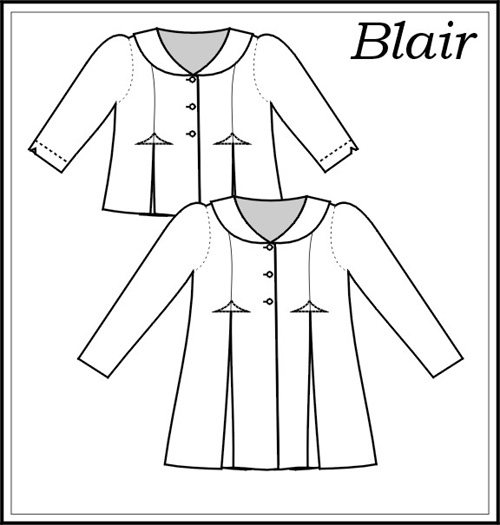 """Blair"" coat by Maja Heirlooms - child's sizes 7-16"