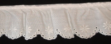 "1-3/4"" Ruffled Eyelet Lace"