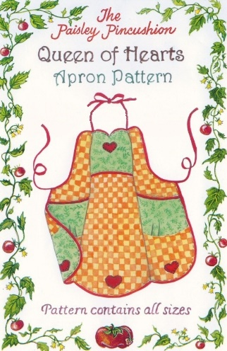 Queen of Hearts Apron - children's thru adult sizes!-Queen of Hearts Apron - children's thru adult sizes!