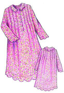 Prairie Rose Nightgown - Ladies-Prairie Rose Nightgown, Ladies, by Paisley Pincushion