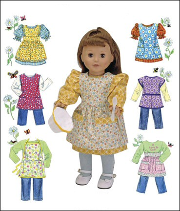 "18"" Doll Clothes - Aprons 'n Things-18"