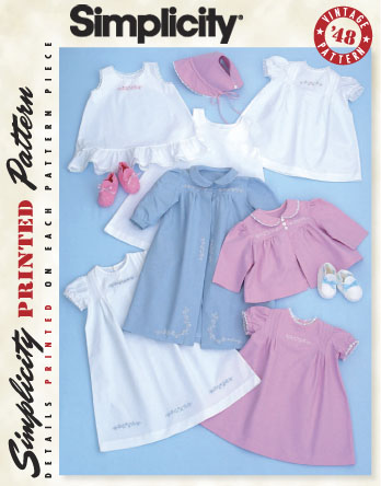 Baby Tuck Dress & Jacket Layette in sizes XXS-Lg