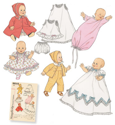 Baby Doll Clothes in 3 sizes