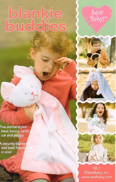 Blankie Buddies Pattern-blanket animal pattern, blankie buddies pattern, sew baby, sewbaby, baby, toddler, children, pattern