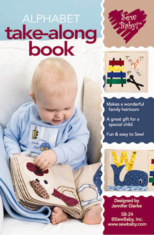 Alphabet Take-Along Book Pattern-alphabet book, alphabet take along book, activity book, pattern, patterns, sewbaby, sew baby