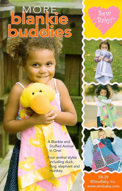 More Blankie Buddies Pattern-animal blanket pattern, blanket patterns, patterns for, baby, toddler, children, gifts