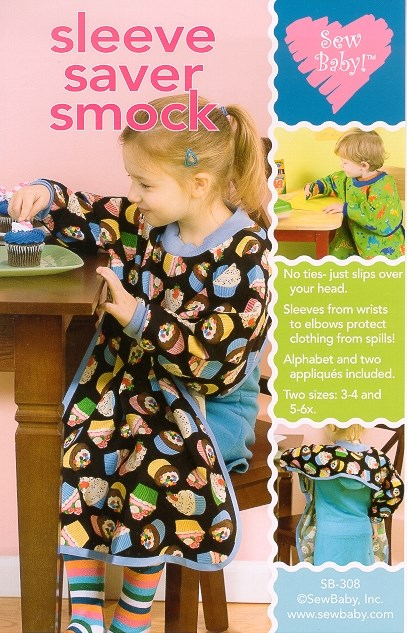 Sleeve Saver Smock for children size 3-6X-Art Smart Smock by Sew Baby